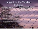 impact on the tourism industry