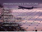 presentation s structure
