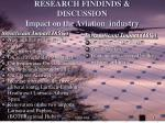 research findinds discussion impact on the aviation industry
