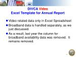 divca video excel template for annual report