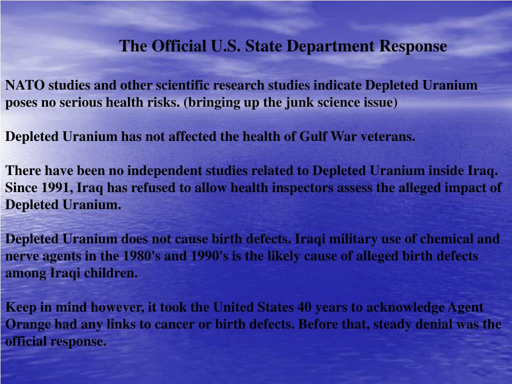 The Official U.S. State Department Response
