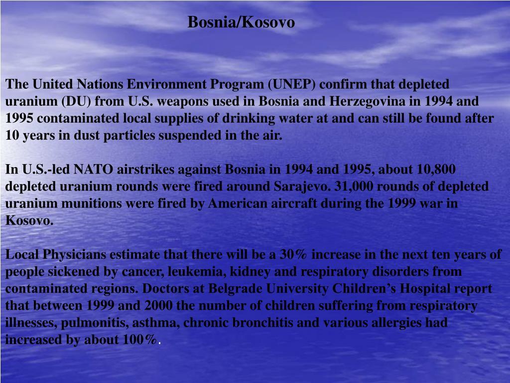 Bosnia/Kosovo