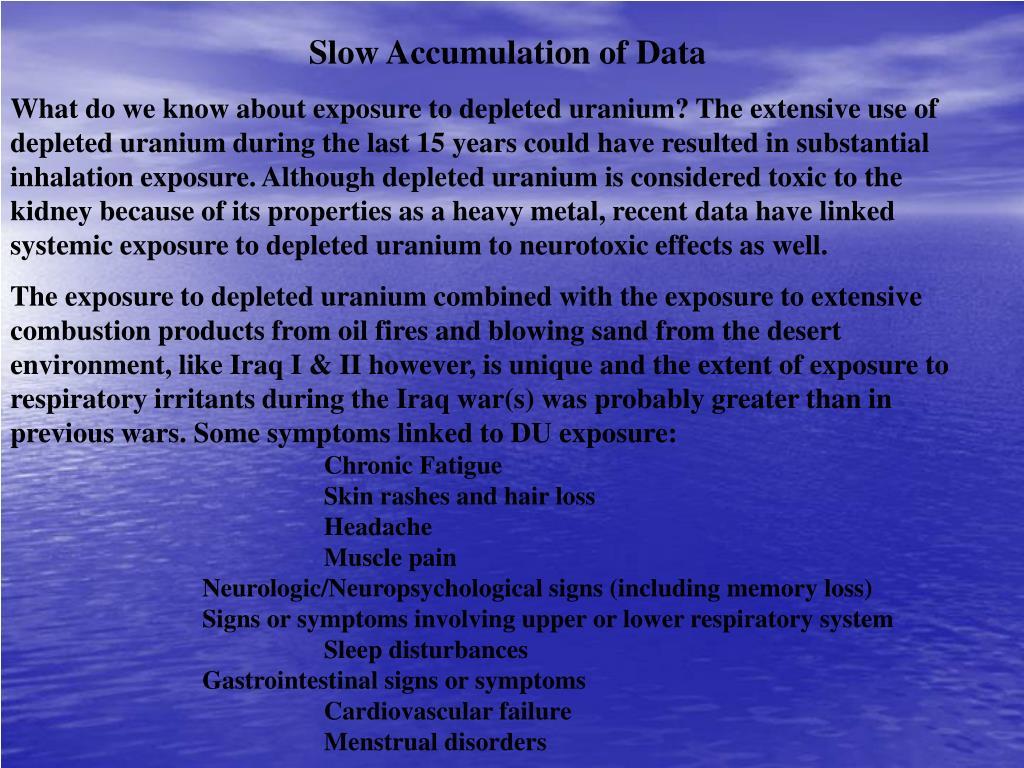 Slow Accumulation of Data