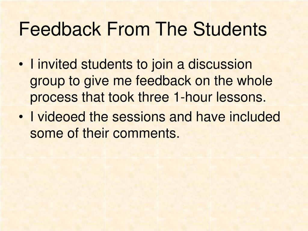 Feedback From The Students