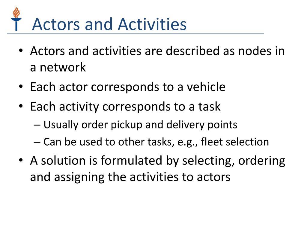 Actors and Activities