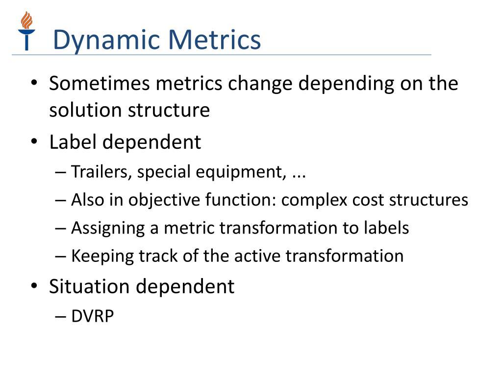 Dynamic Metrics