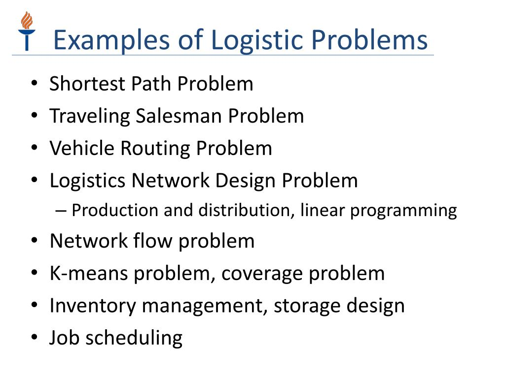 Examples of Logistic Problems