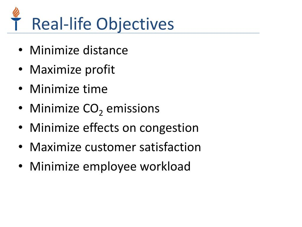 Real-life Objectives