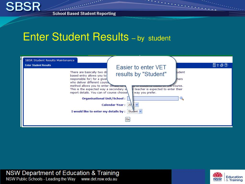 Enter Student Results