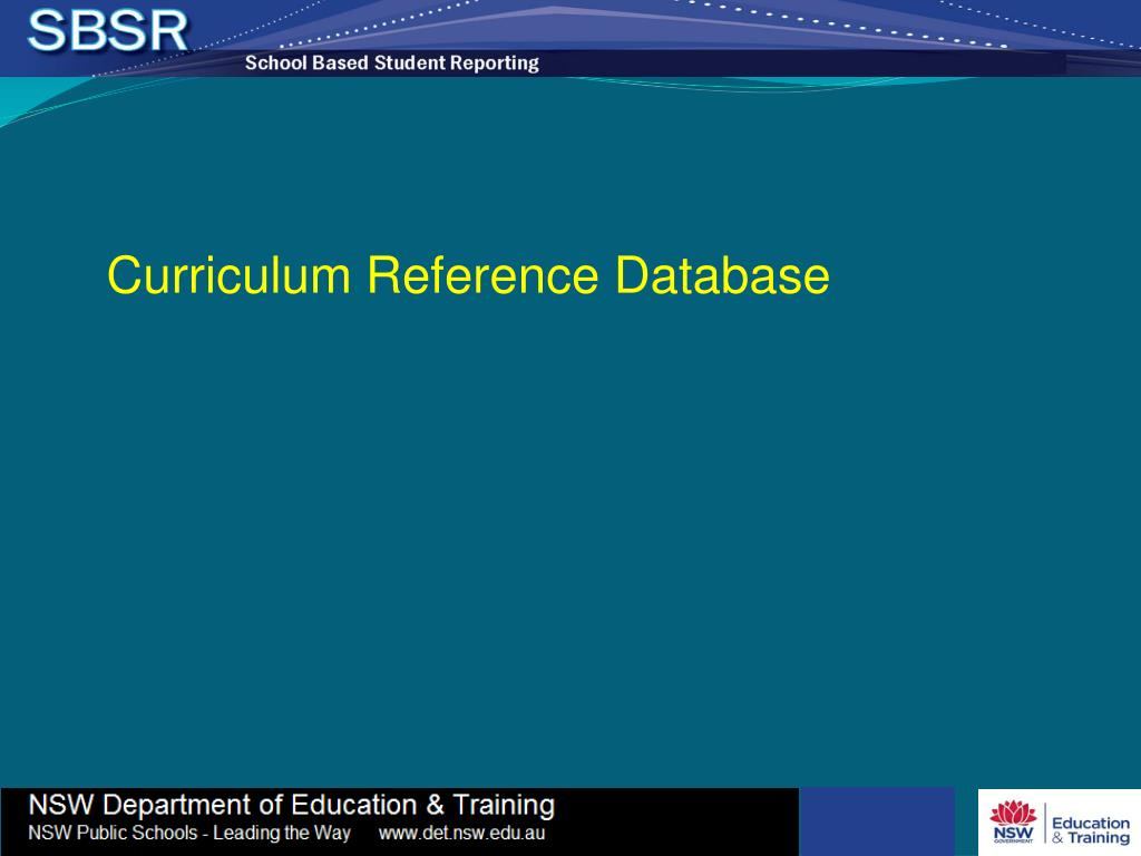 Curriculum Reference Database