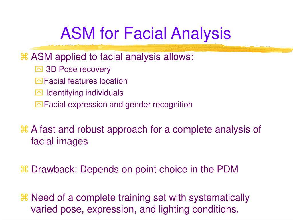 ASM for Facial Analysis