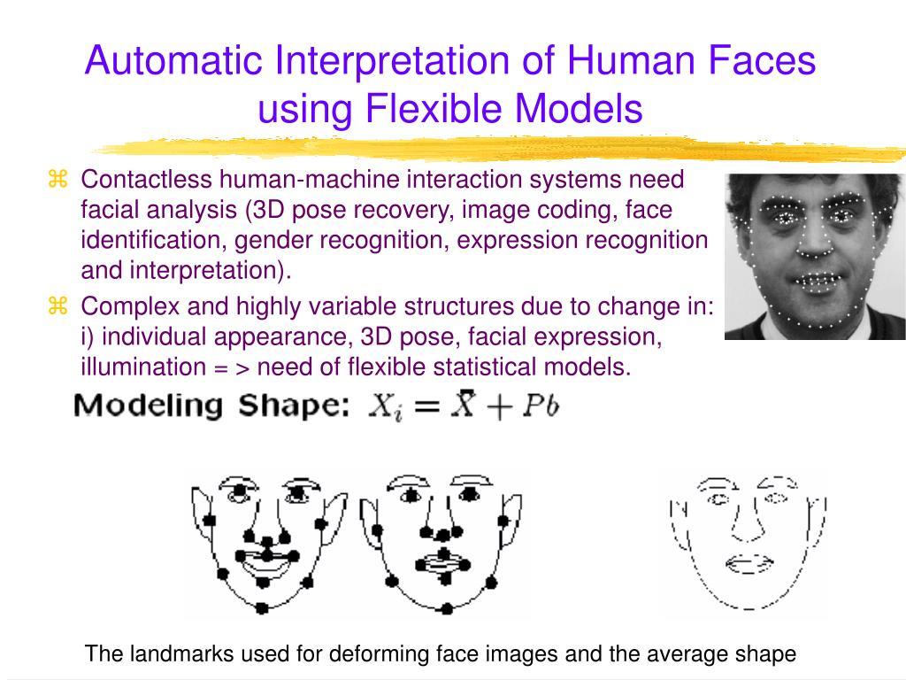 Automatic Interpretation of Human Faces using Flexible Models