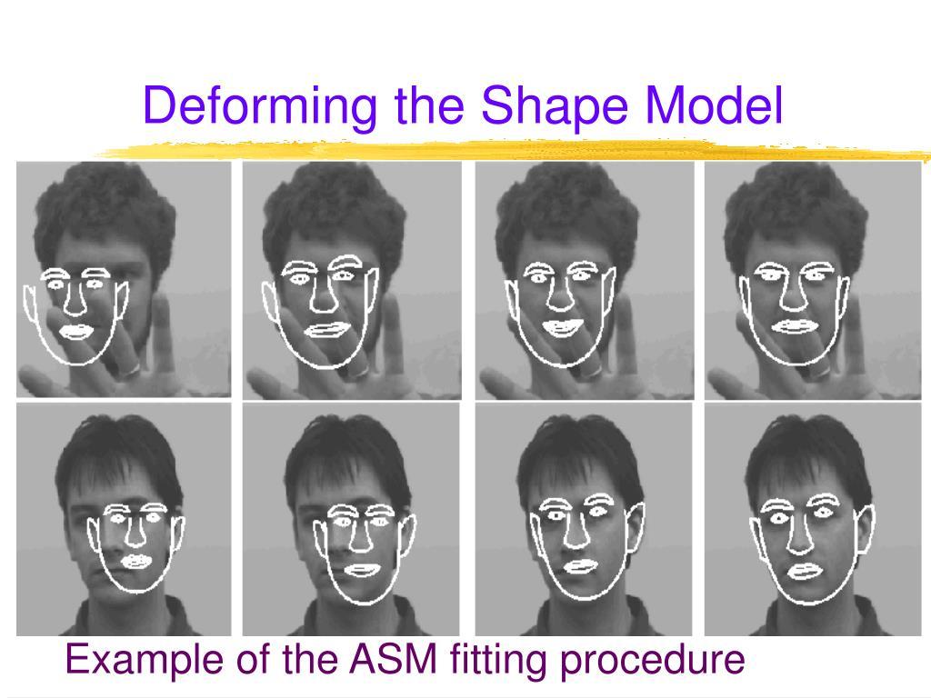 Deforming the Shape Model