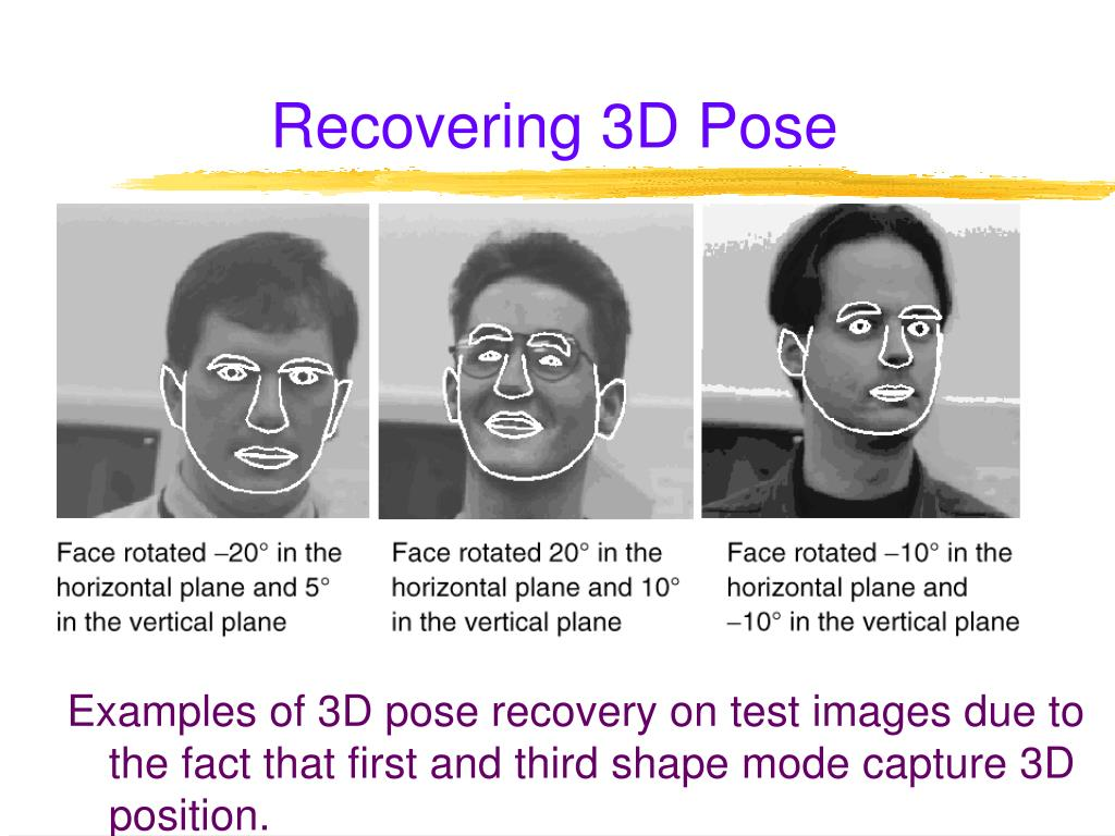 Recovering 3D Pose