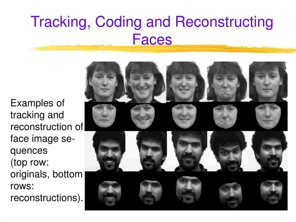 Tracking, Coding and Reconstructing Faces