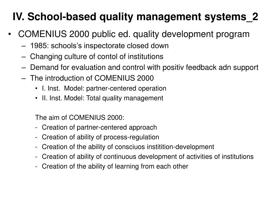 IV. School-based quality management systems_2