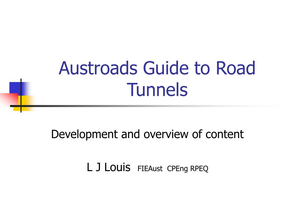 austroads guide to road tunnels l.