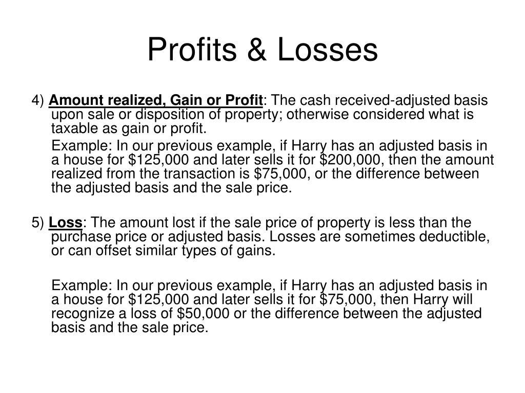 Profits & Losses