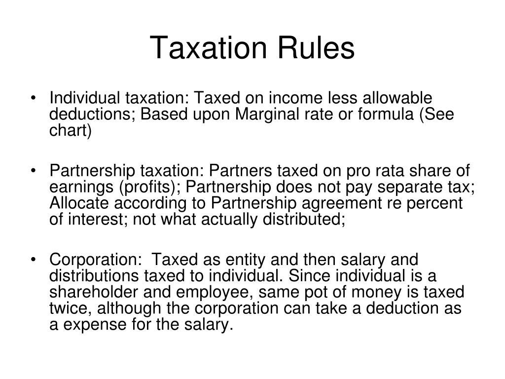 Taxation Rules