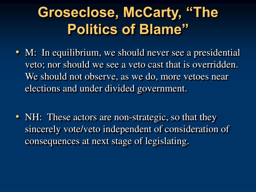 "Groseclose, McCarty, ""The Politics of Blame"""