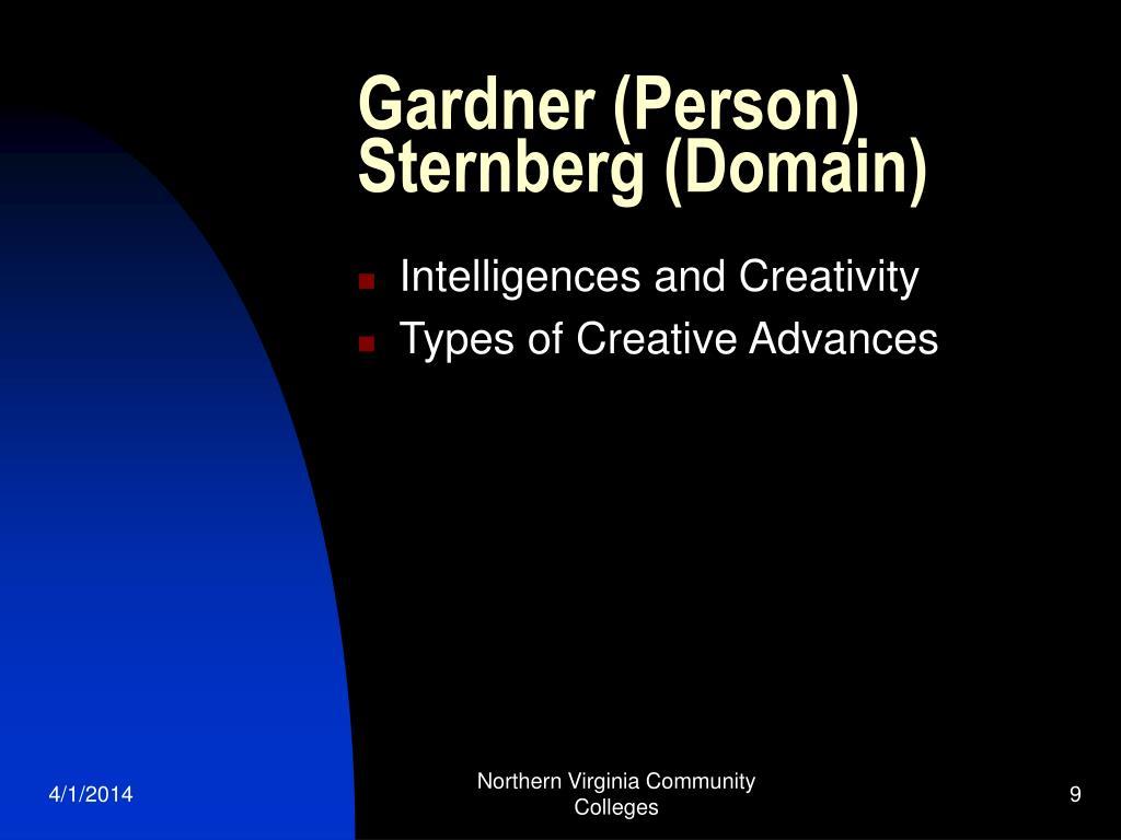 Gardner (Person) Sternberg (Domain)