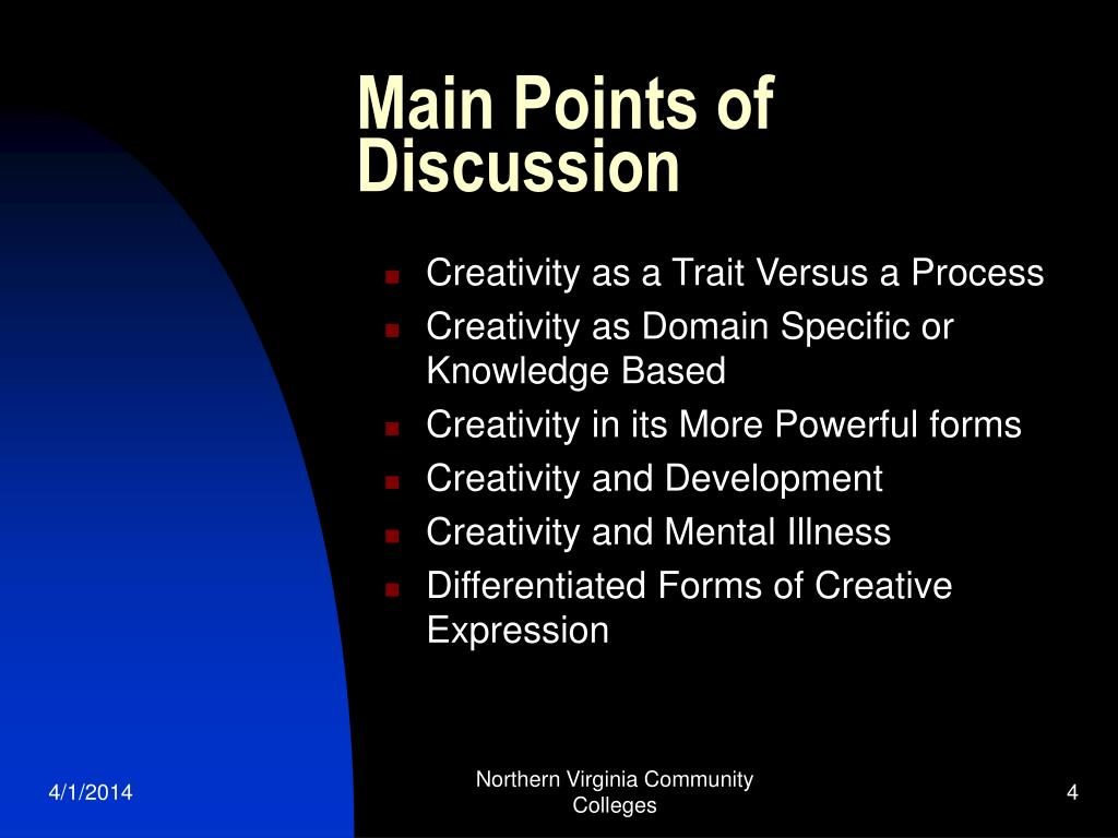 Main Points of Discussion