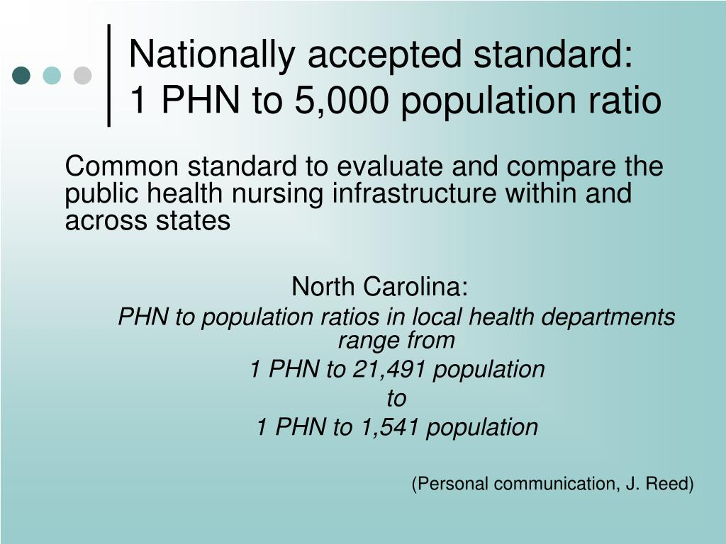 Nationally accepted standard:
