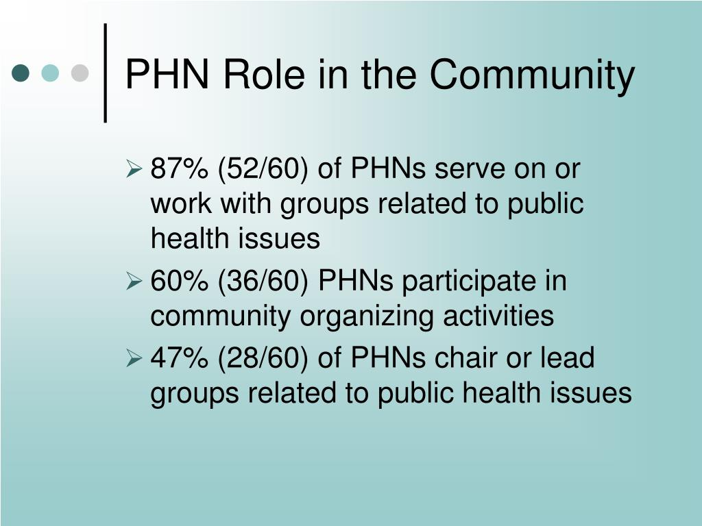 PHN Role in the Community