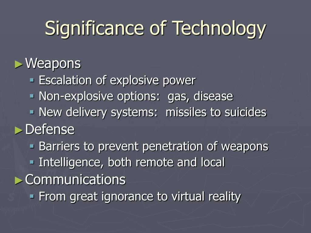 Significance of Technology