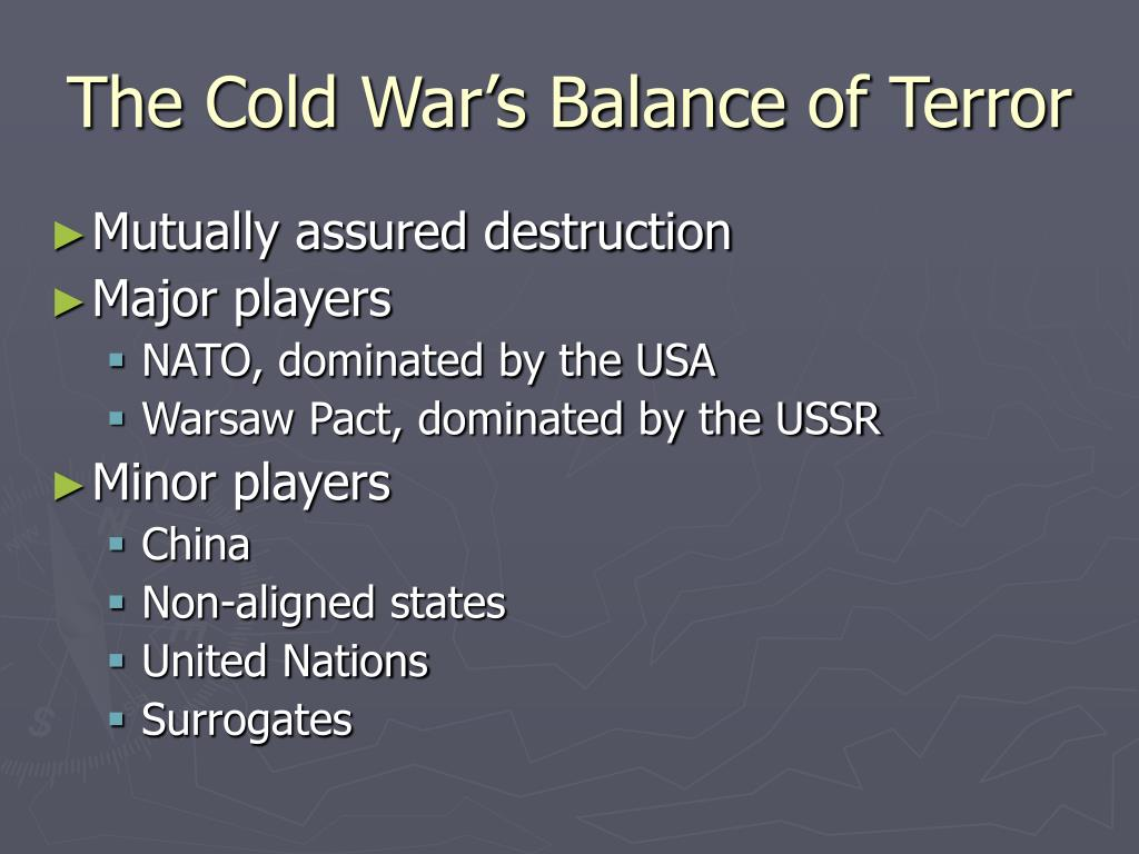 The Cold War's Balance of Terror