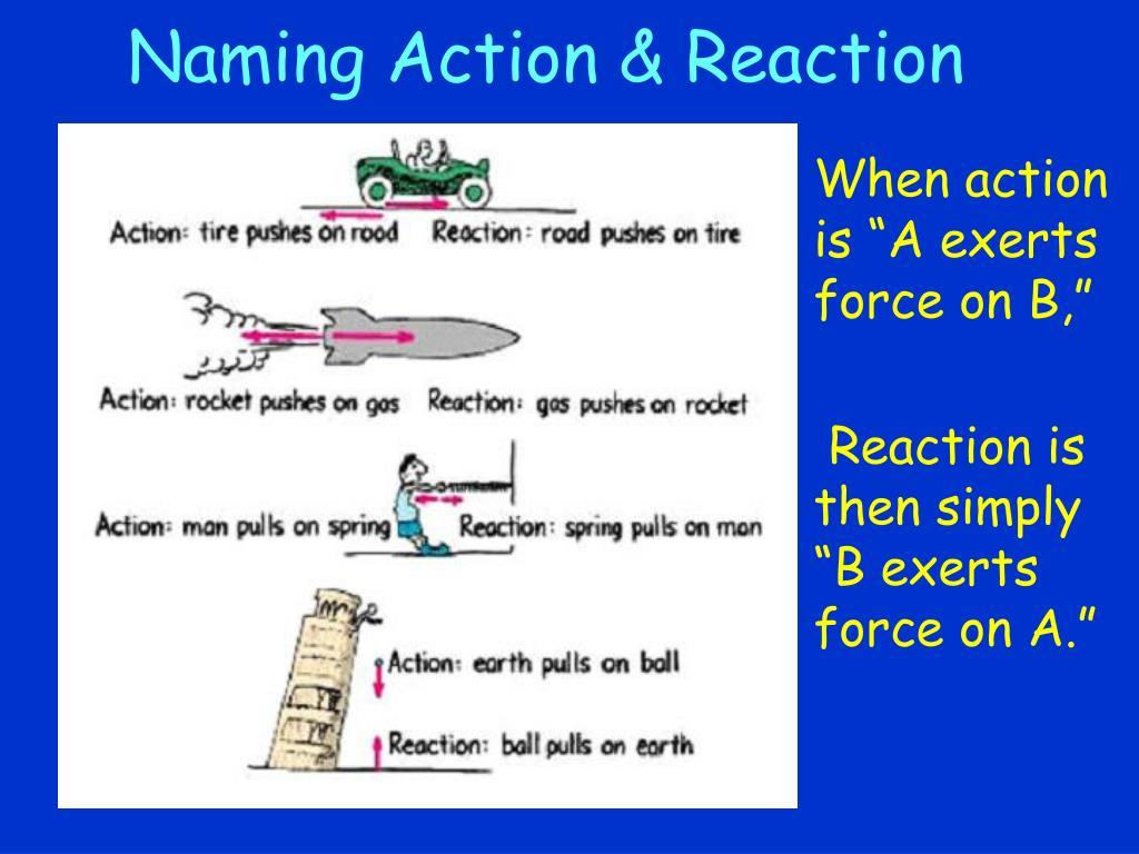 Naming Action & Reaction