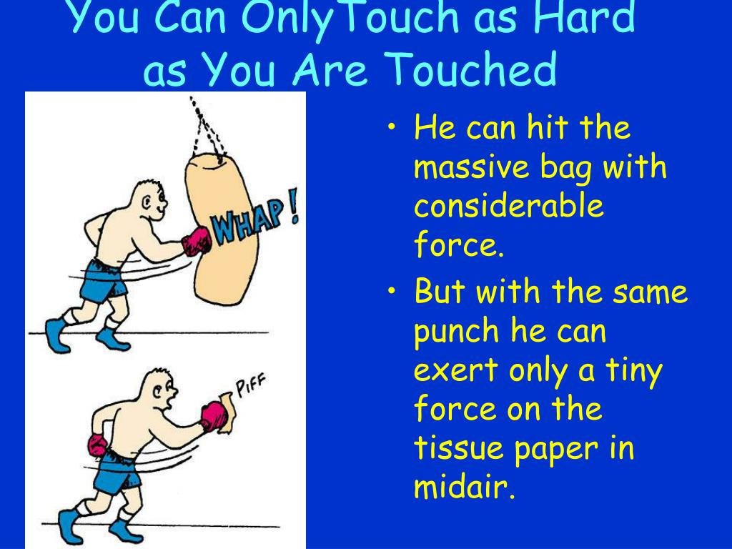 You Can OnlyTouch as Hard as You Are Touched