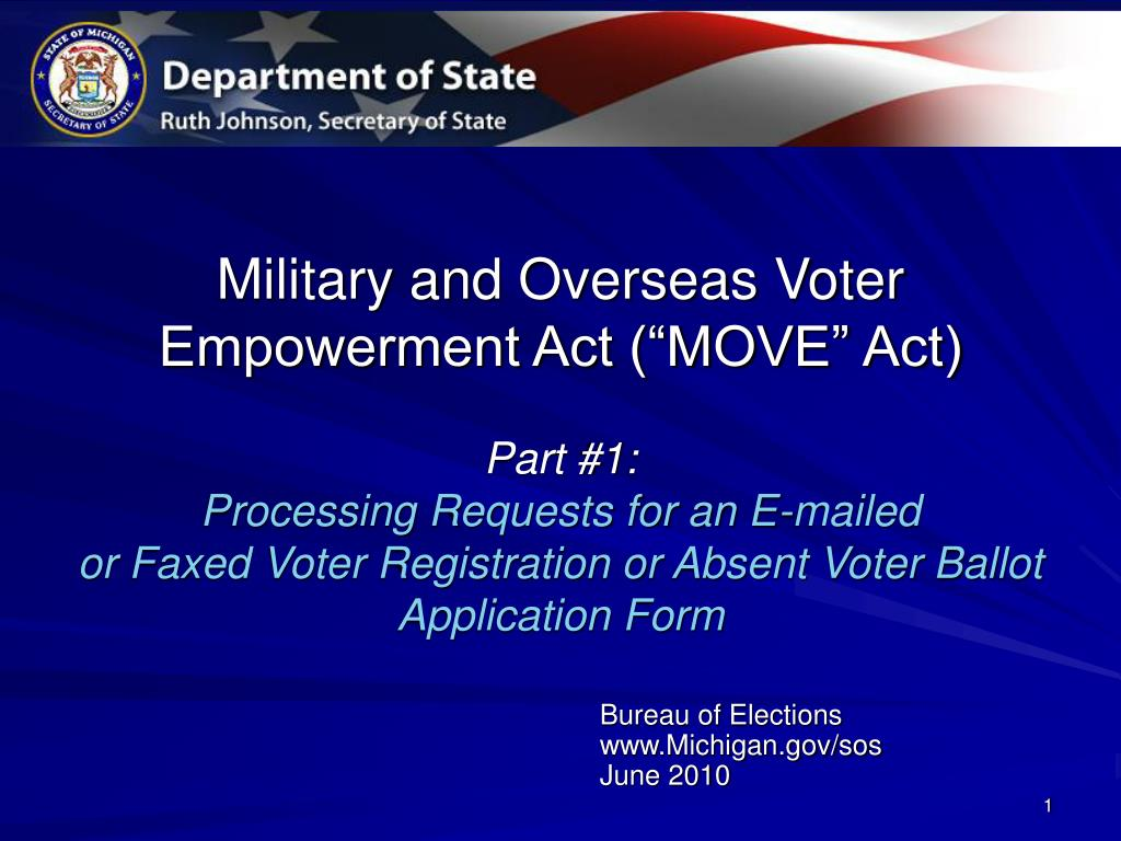 Military and Overseas Voter