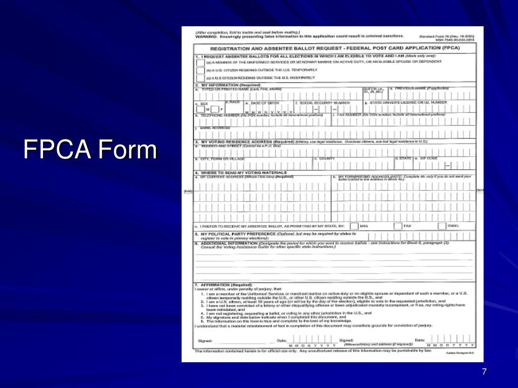 FPCA Form