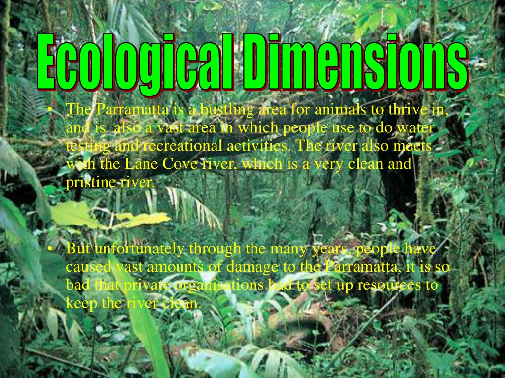 Ecological Dimensions