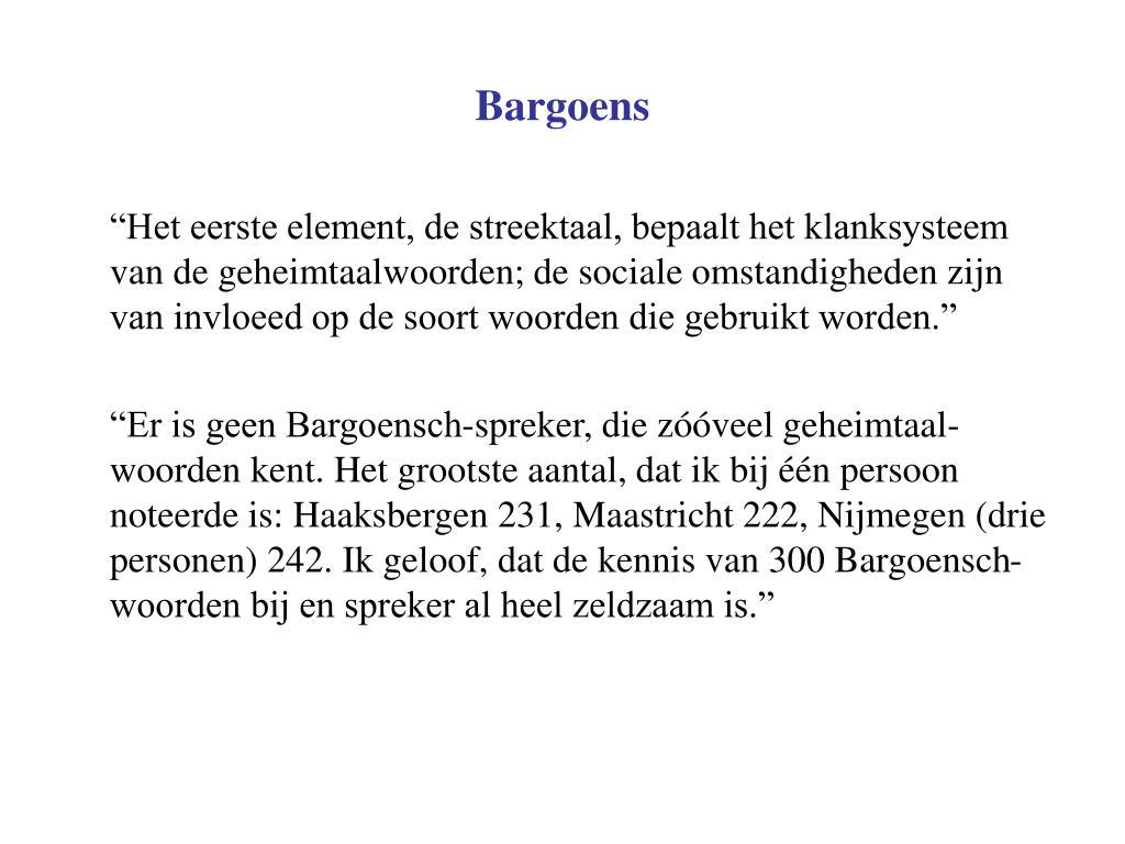 Bargoens