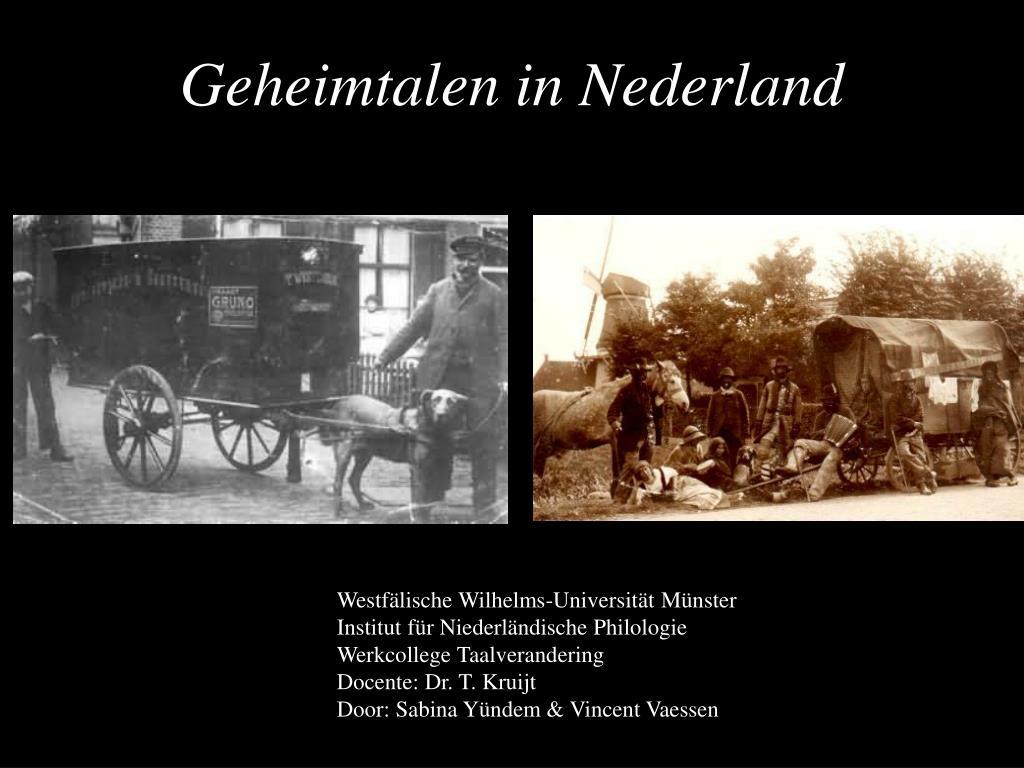 Geheimtalen in Nederland
