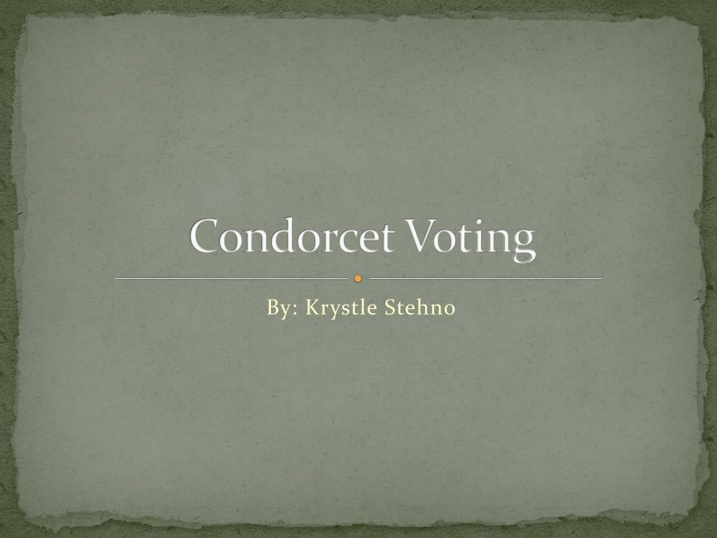 condorcet voting