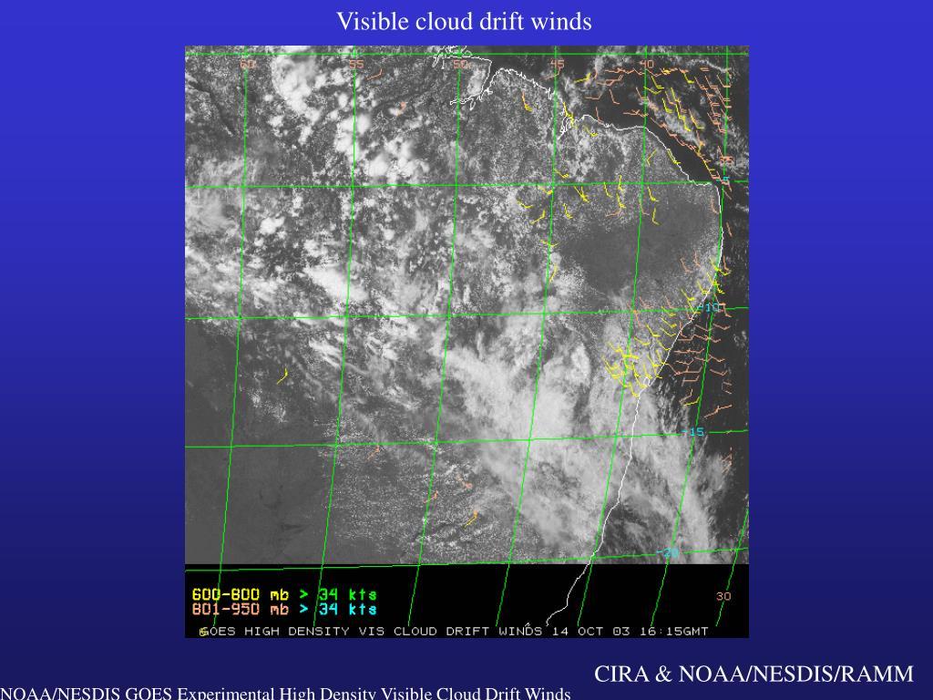 Visible cloud drift winds