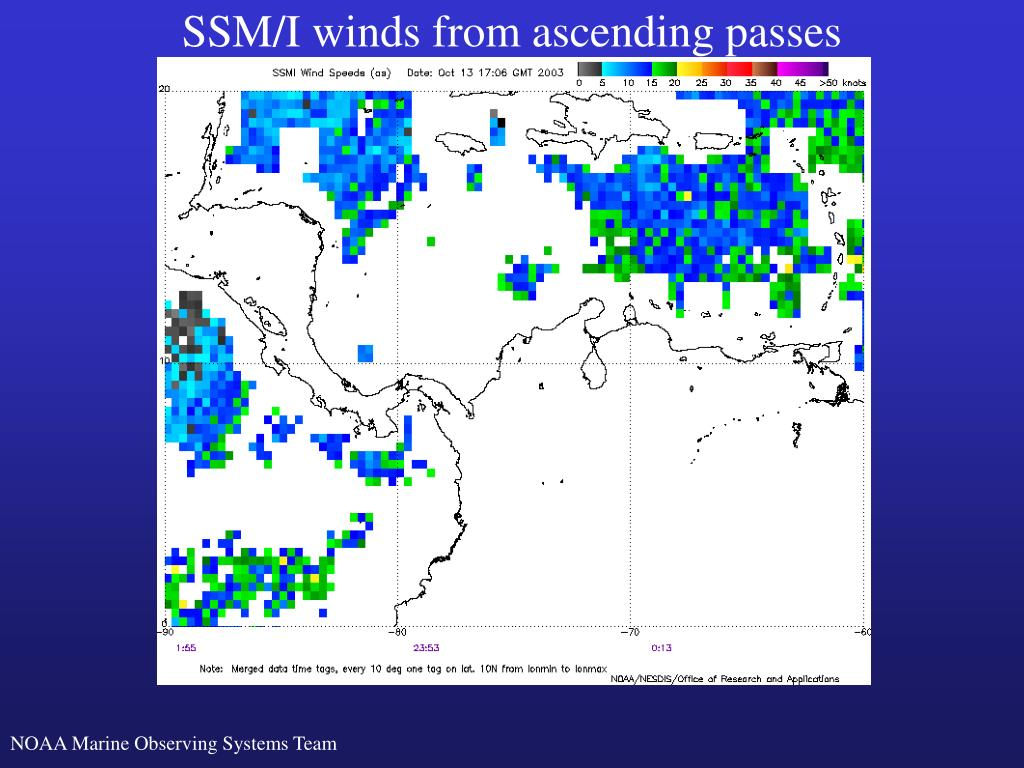 SSM/I winds from ascending passes