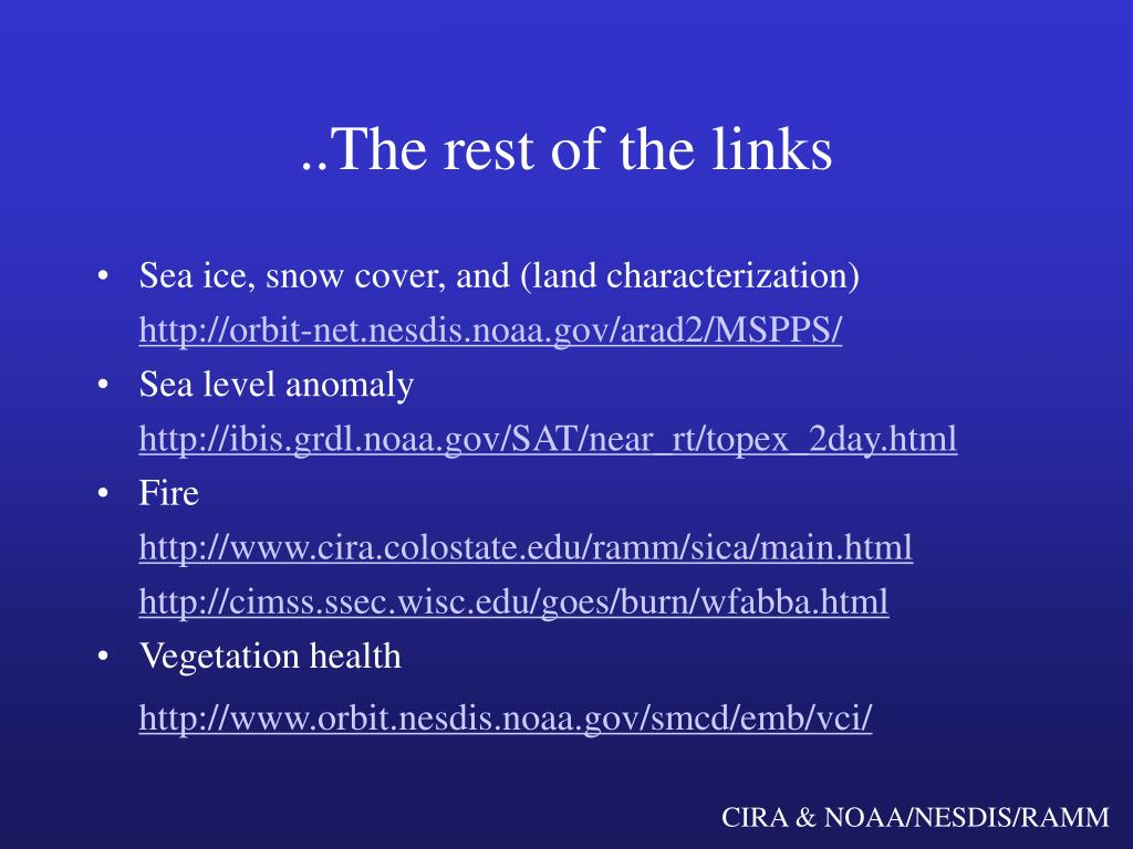 ..The rest of the links
