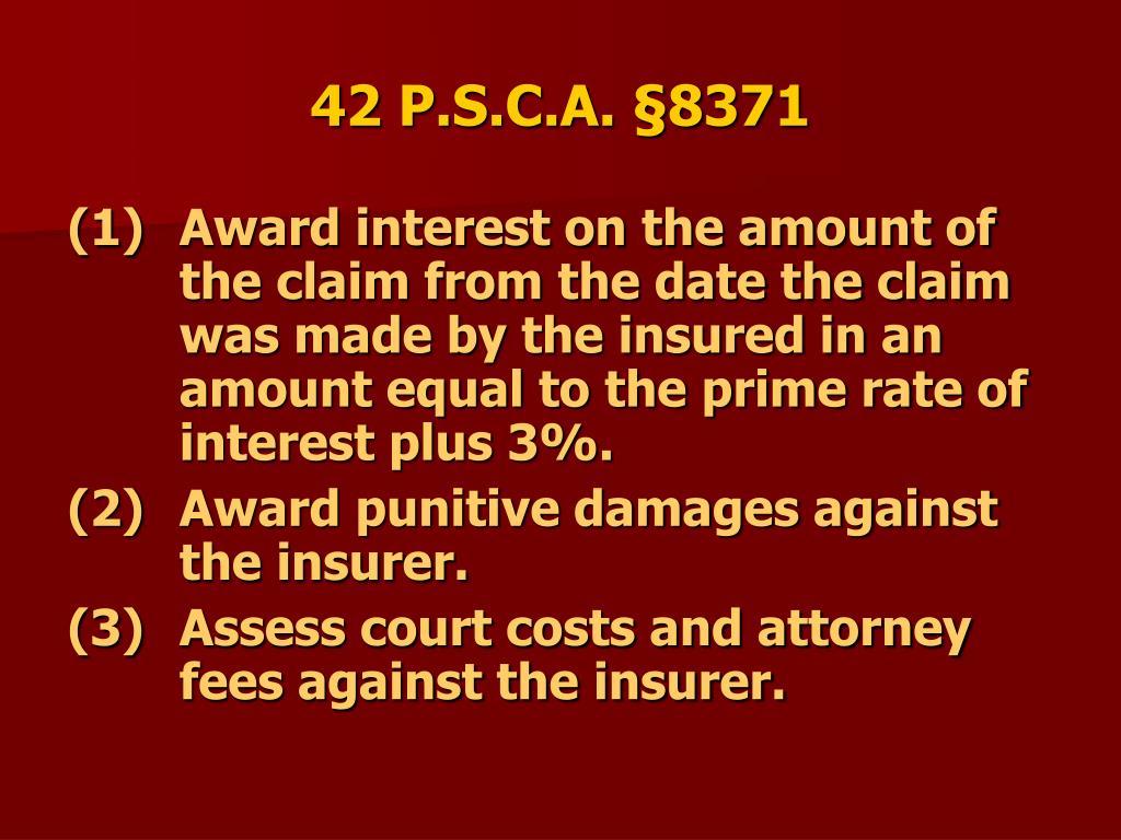 42 P.S.C.A. §8371