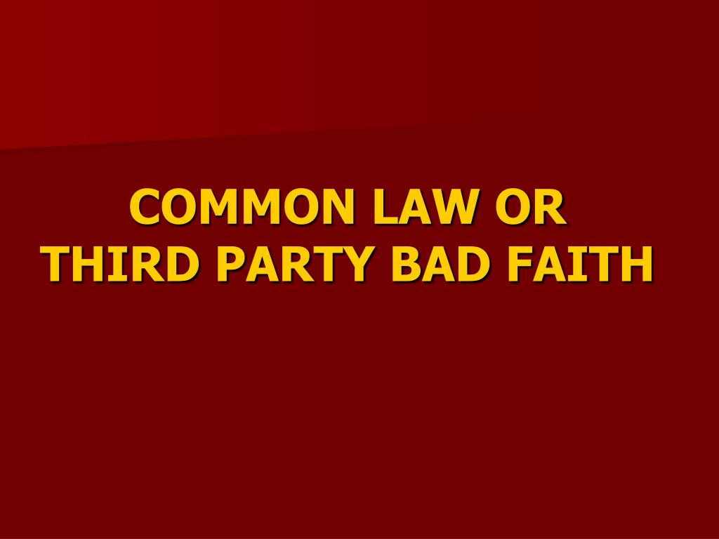COMMON LAW OR