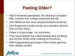 feeling older