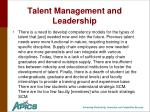 talent management and leadership