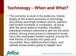 technology when and what