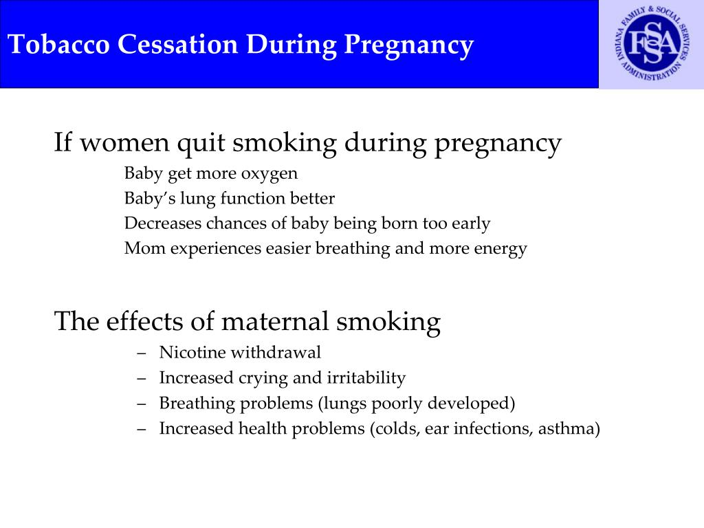 Tobacco Cessation During Pregnancy