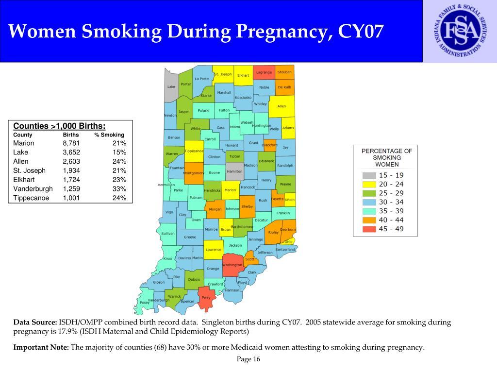 Women Smoking During Pregnancy, CY07