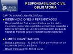 responsabilidad civil obligatoria