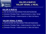 valor a nuevo valor venal o real13